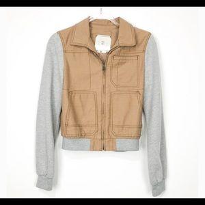 HEI HEI Anthropologie jacket coat tan gray casual